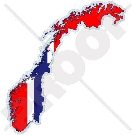 Norwegen Norwegische Karte Flagge Das Königreich Norwegen Noreg 120mm Auto Motorrad Aufkleber Vinyl Stickers Garten