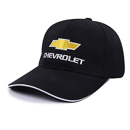 (OSIRCAT Car Logo Motor Hat Embroidered Black Racing F1 Baseball Caps for Chevrolet Accessories )