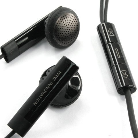 Original HTC OEM Stereo Handsfree Headset Remote Control for EVO 4G 3D, Desire, HD2 T8585, Incredible S, SENSATION 4G, T-Mobile myTouch 4G - Non-Retail (Htc Stereo)
