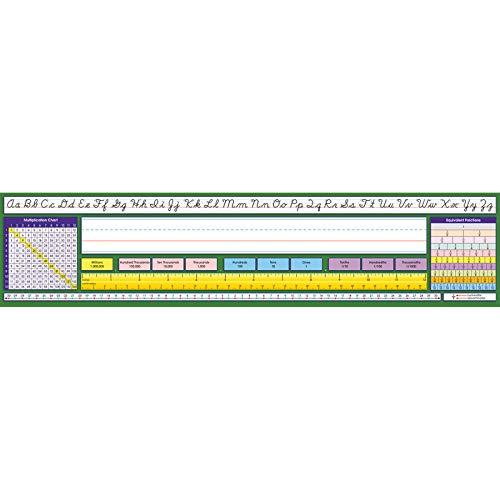 - North Star Teacher Resource NST9043BN Adhesive Intermediate Contemporary Cursive Desk Plates, 17.5