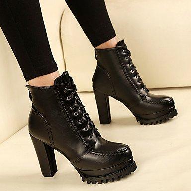 LvYuan-GGX Damen Damen Damen High Heels Fersenriemen PU Frühling Normal Schwarz 7 5-9 5 cm 507ad1
