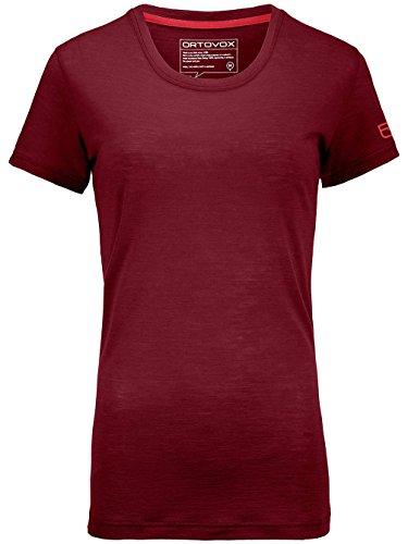 Ortovox Mujer 150Cool Clean–Camiseta dark blood