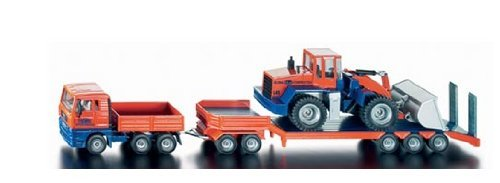 Siku 4113 Tieflader mit Radlader Orange blau