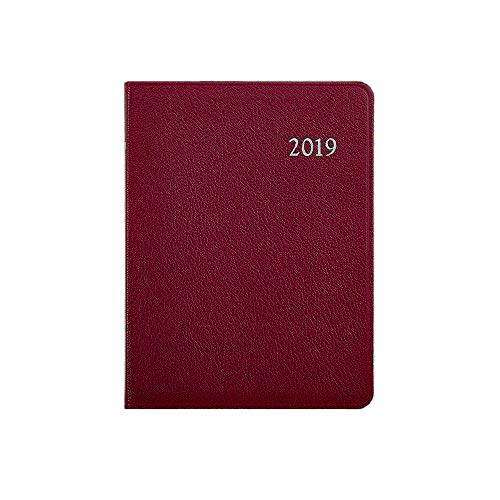 Post by Graphic Image 2019 Weekly Desk Diary Datebook - Recycled Pebble Grain Leather (7 x 9) (Berry)