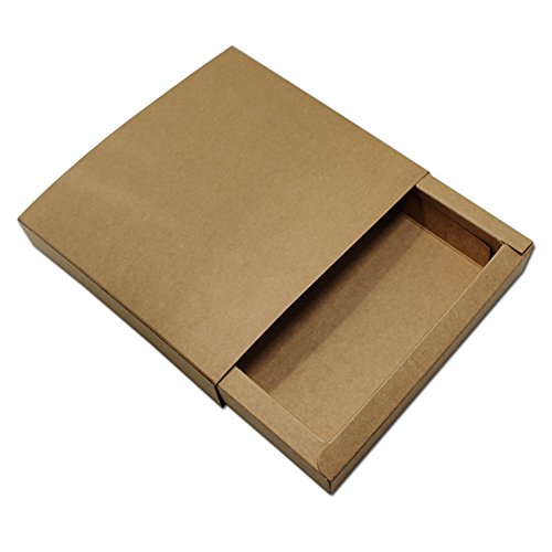 Paper Cd Packaging - Lavenz Brown 15.5x15.5x2.8cm 10Pcs/Lot Kraft Paper DVD Boxes VCD Cases For Wedding Party Event CD 6.1
