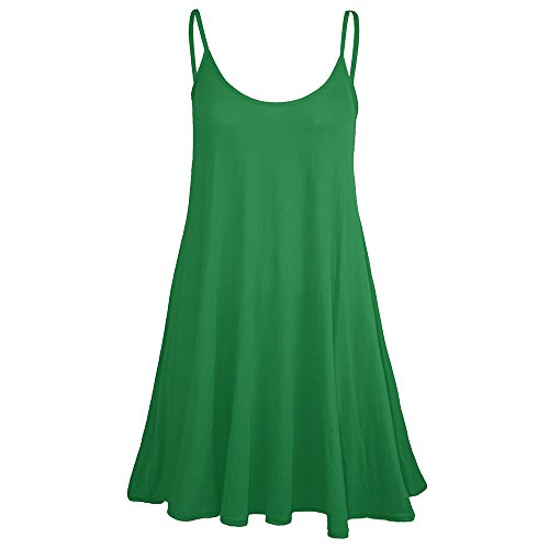 ❤️Sumeimiya Womens Camisole Dress, Solid Round Neck Sleeveless Dress Casual Loose Mini Dress Daily Simple Dress Green