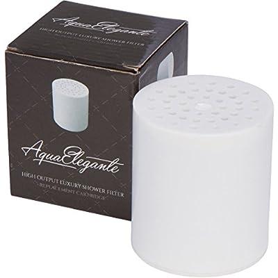 Aqua Elegante High Output Luxury Shower Filter - Best Chlorine Removing Filtration System & Cartridge - Replacement Cartridge