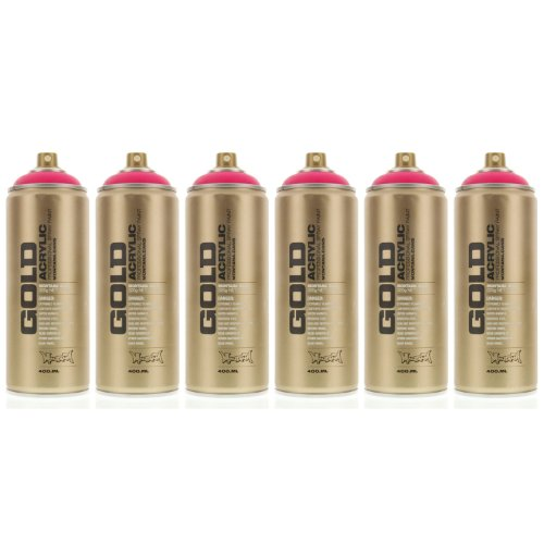 Montana GOLD Acrylic Spray Paint GLEAMING PINK Pack of 6 ...