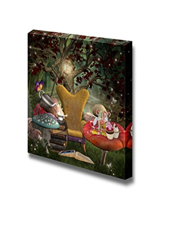 wall26 - Canvas Prints Wall Art - Midsummer Night Dream Series - a Place for Reading | Modern Wall Decor/Home Decoration Stretched Gallery Canvas Wrap Giclee Print. Ready to Hang - 12