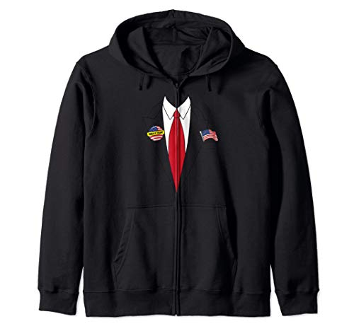 Donald Trump Halloween Costume Art | Cute President Gift Zip Hoodie]()