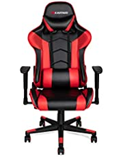 mfavour Gaming Chair Racing Style PC Office Chair Leather Computer Chairs Ergonomic Heavy Duty Desk Chair with Adjustable Armrest and Lumbar Support, Tilt Funtion