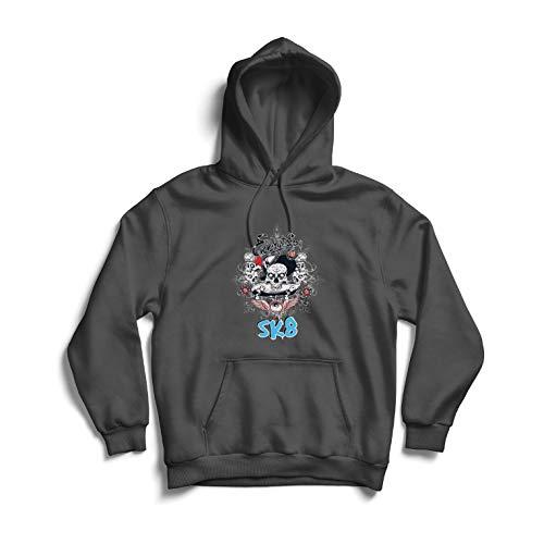 lepni.me Unisex Hoodie Everything is SK8 / Skating, Skater Gift (X-Large Graphite Multi - Graphite Hockey Skates