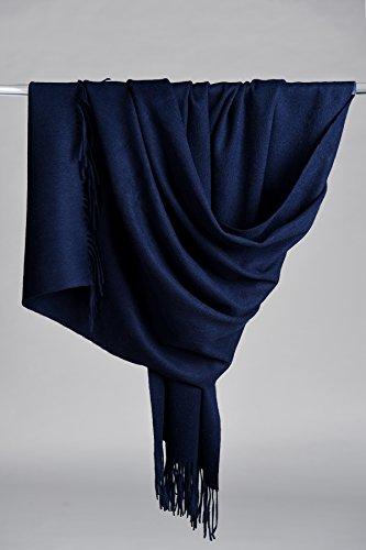 Super Soft 100% Pure Cashmere Shawl, Navy