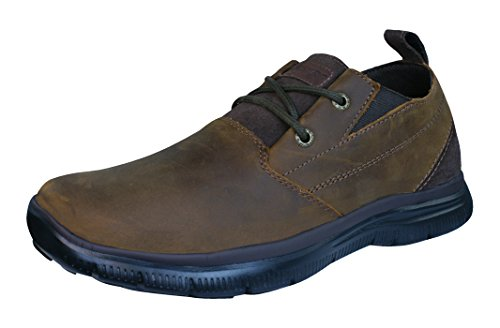 Skechers Heren Relaxed Fit Hinton Boley Oxford Bruin