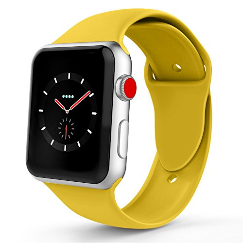 iYou Sport Band Compatible for Apple Watch Band 38MM 42MM, Soft Silicone Replacement Sport Strap Compatible for iWatch 2017 Apple Watch Series 3/2/1, Edition, Nike+, All Models More Colors Choose