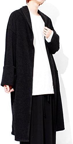 カーディガン メンズ ロング 変形 デザイナーズ コート ショールカラー コーディガン ガウン 日本製 国産