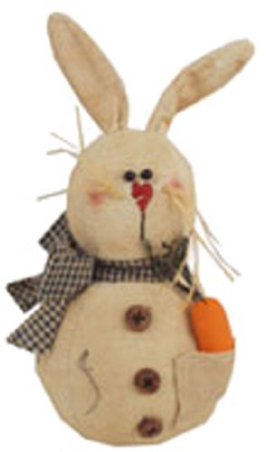 Craft Outlet Matilda Primitive Bunny Rabbit Figurine, 5-Inch (Primitive Bunny)
