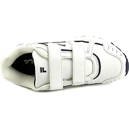 Fila Mens Talon Två Rem Atletiska Sneakers, Vitt, Vitt, Fila Marinen