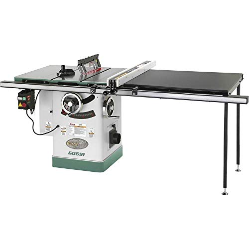 Grizzly Industrial G0691-10″ 3HP 220V Cabinet Table Saw with Long Rails & Riving Knife