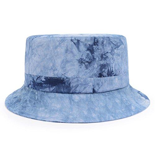 GP Accessories Mens Womens Trends Fashion Bucket Hat Large Tie Dye Blue (Women Blue Bucket Hats)