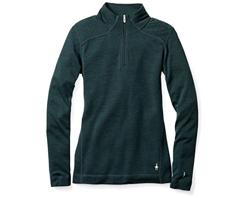 SmartWool Women's NTS Mid 250 Baselayer Zip Top Lochness Heather Small (Smartwool Base Layer)