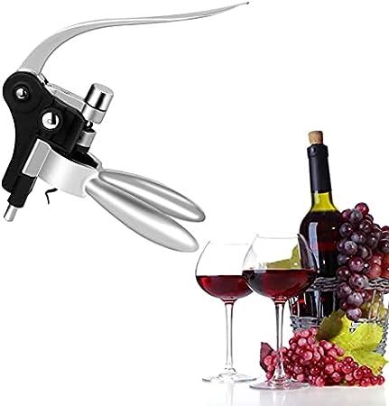 Gazechimp Abrelatas de Vino, Sacacorchos de Aleación de Zinc para Trabajo Pesado, Sacacorchos para Botellas de Vino, Sacacorchos, Herramienta para Quitar, Abrid - de Plata, Individual