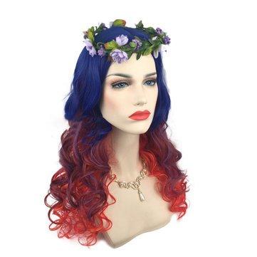 (Women Cosplay Wigs Gradient Wavy Long Hair Full Halloween Party Wig - Hair & Accessories Cosplay & Costume)