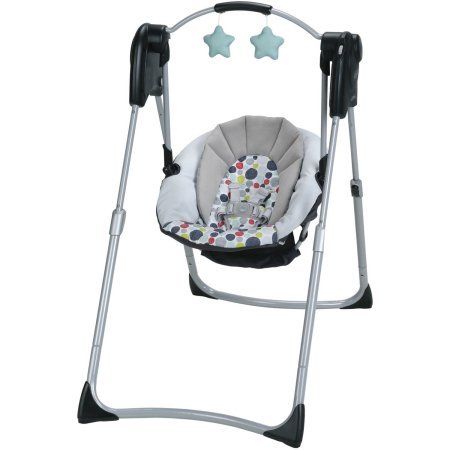 Graco Slim Spaces Compact Baby Swing, Etcher 1AM00ETC