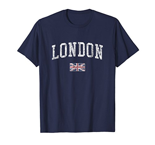 (London England T-Shirt Vintage Sports Design British)