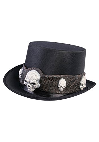 Forum Novelties Unisex-Adult's Standard Top Hat W/Skulls, Multi, Standard - Gothic Top Hat