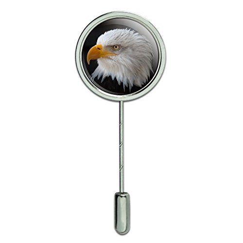Graphics and More Stoic Bald Eagle Stick Pin Stickpin Hat Brooch