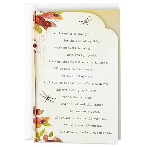 Hallmark Love Card or Anniversary Card (Love You for The Rest of My Life) (Greeting Card For Husband On Wedding Day)