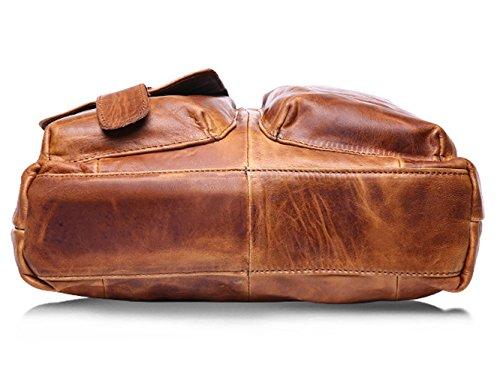 HopeEye Bolsos de Mano Bolsos Bandolera Hombres Totes Multifuncional Classic Superior Casual Viaje Vintage Gran Capacidad Elegantes Cuero Amarillo
