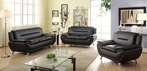 Leather 3 Piece Set Sofa - 3