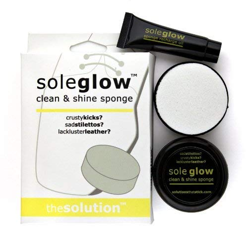 - Fashion First Aid Sole Glow: Clean and Shine Shoe and Leather Care (2 Sponges, 1 Refill Tube)