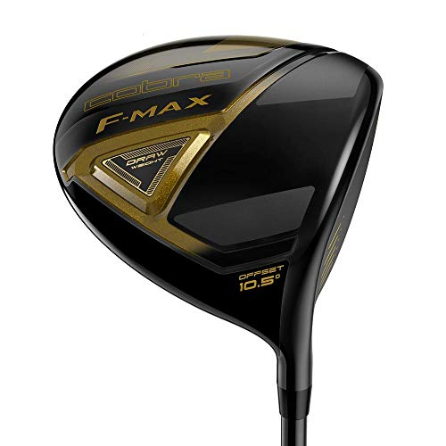 Cobra Men's 2018 F-Max Offset Driver Black-Gold, Right Hand, Graphite, 10.5, degrees, Regular