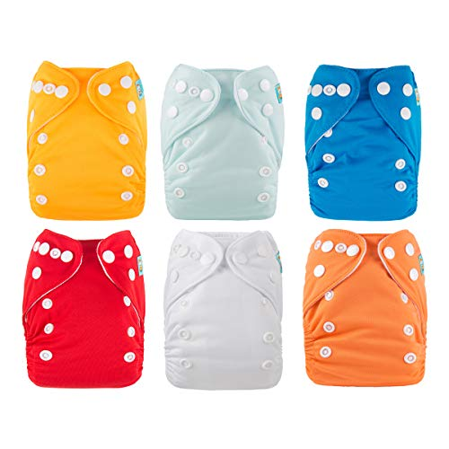 ALVABABY Newborn Cloth Diapers Pocket for Less Than 12pounds Cloth