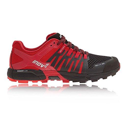 Inov-8 Roclite 305 Hiking Boot Sneaker Trail Running Shoe – Black/Red/Dark Red – Mens – 9.5 For Sale