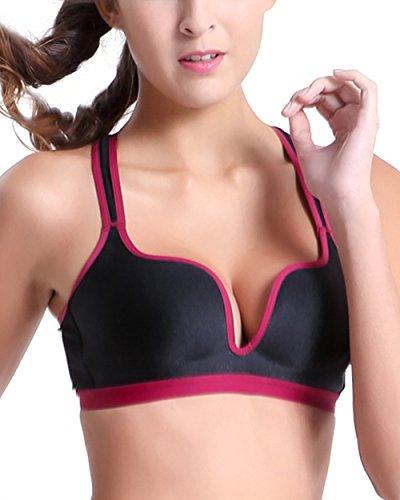 Women/Lady Vest Sports Bras Seamless Running Bra Yoga V Neck Tops ZC90109z3/38B