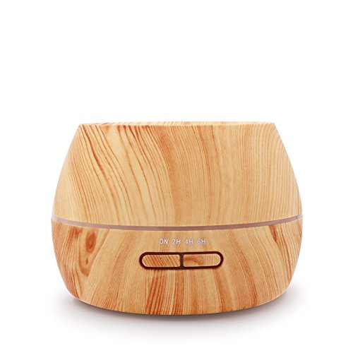hysure Baby humidifier Essential Oils diffuser Mini Humidifier with Wood Grain Air humidifier for Kids, Home, Room, Spa, Desktop and Whole house, Light by hysure