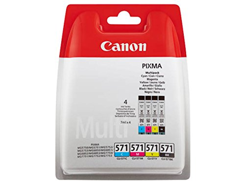 Ink Canon CLI-571 C/M/Y/BK MULTIPACK Blister without Security by Canon
