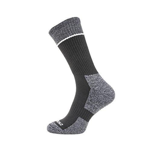 Dry Mid Length Socks, Medium, Black/Grey/White ()