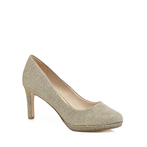 Debut Womens Silver Glitter 'Dourtney' High Stiletto Heel Court Shoes 0QlN8