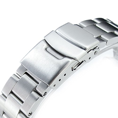 7f286eb93f16 22mm Super Oyster II Watch Bracelet for Seiko Diver Skx007 009 011 Curved  End
