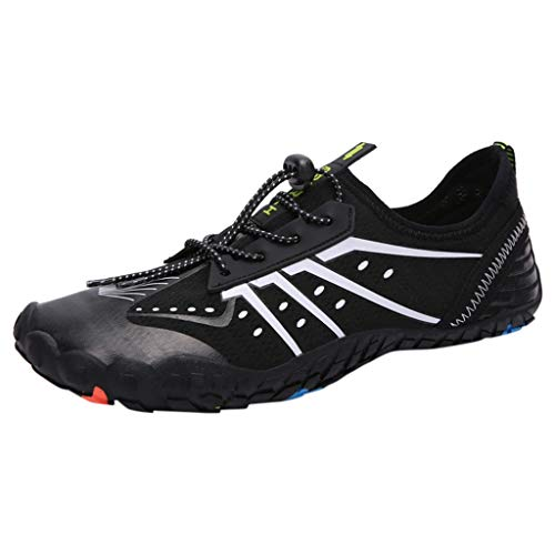 Bralonees Pair of Beach Shoes Climbing Diving Walking Unisex Adult Fitness Lightweight Sneaker Running Breathable Sports Black