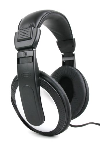 DURAGADGET Lightweight, Supreme Comfort, Stereo Black/Silver Over-Ear Headphones - Compatible with The Sony A10 Series High-Resolution Walkman