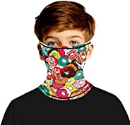 MengPa Kids Face Cover Neck Gaiter Headwear Ear Hangers Headband Multifunctional Balaclavas