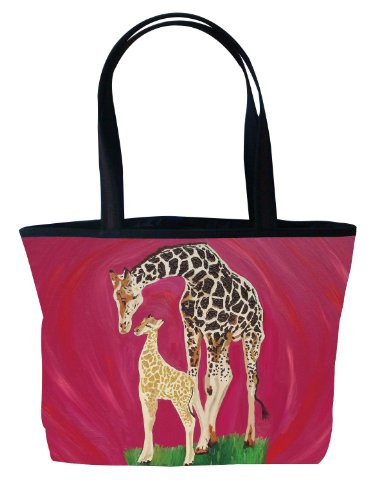 - Giraffe Shoulder Bag, Vegan Tote Bag - Animal Prints - From My Original Painting, Full Circle