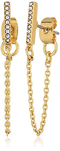 Rebecca Minkoff Pave Bar Chain Stud Earrings