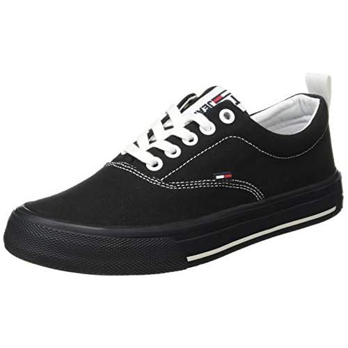 chollos oferta descuentos barato Tommy Hilfiger LowCut Essential Sneaker Zapatillas para Mujer Negro Black Bds 40 EU